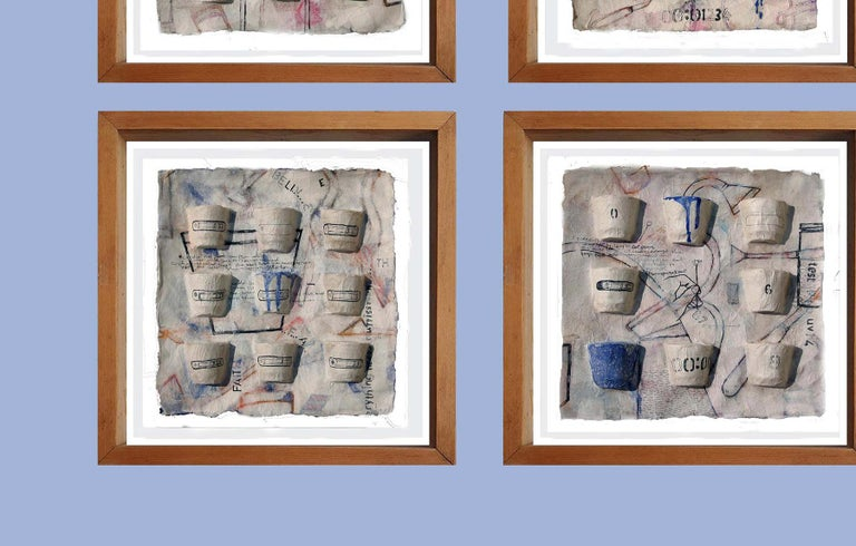 Arun Bain - Believe, Faith, Truth etc. - 12 x 12 x 1 inches (each) Six panels. Ink, Earth & Water color in casted Rice paper. Inclusive of shipment in roll form.  Style : Arun  Bain feels that paintings allow him the freedom to explore a range of