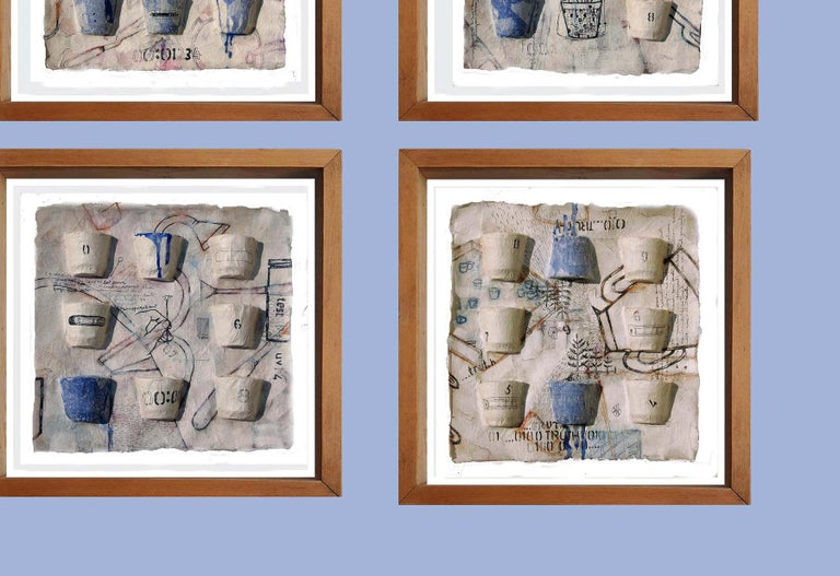 Believe, Faith, Truth, Six Panels, Ink, Earth, Watercolor, Blue, White