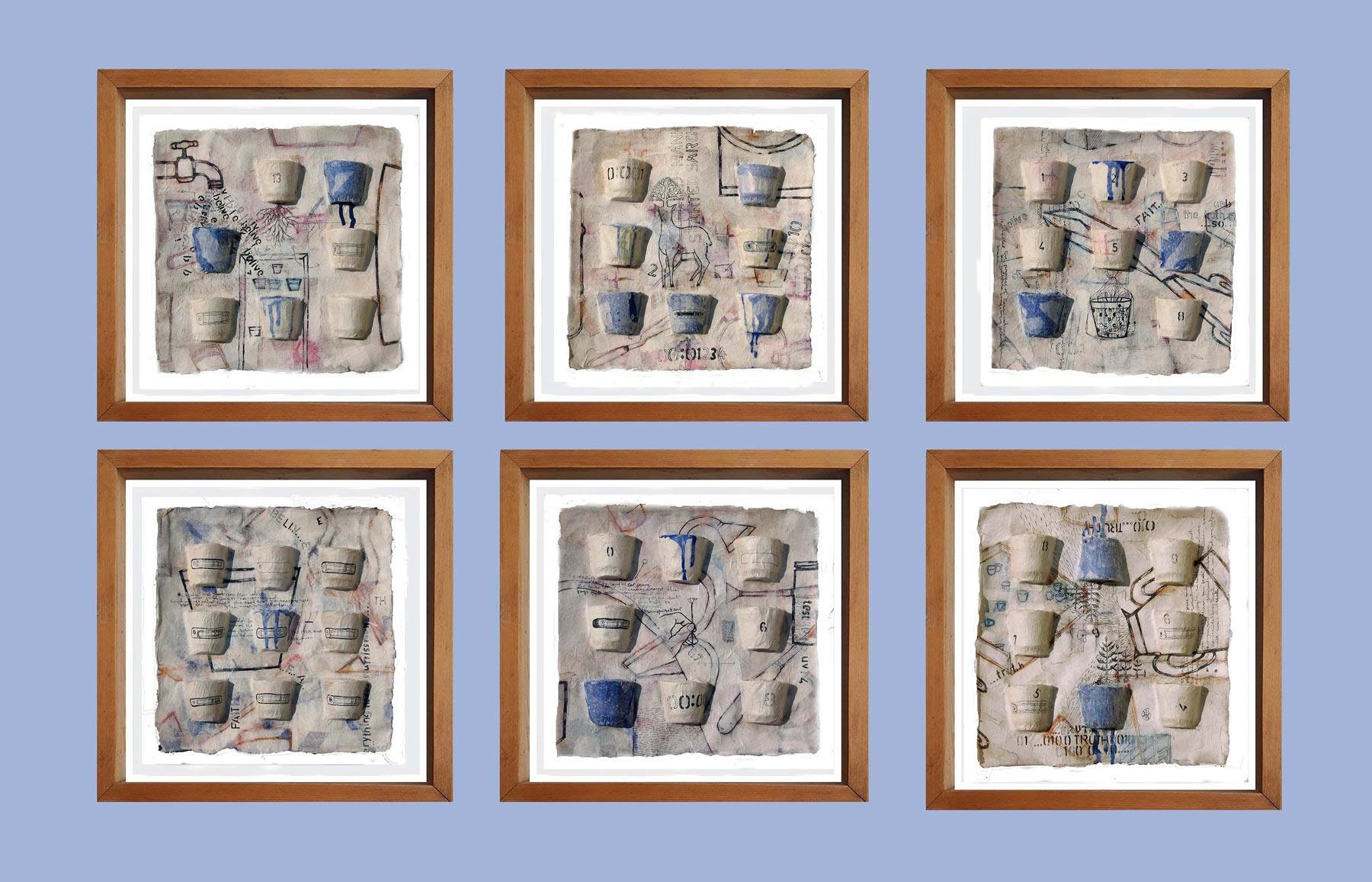 """Believe, Faith, Truth, Six Panels, Ink, Earth, Watercolor, Blue, White""""In Stock"""""""