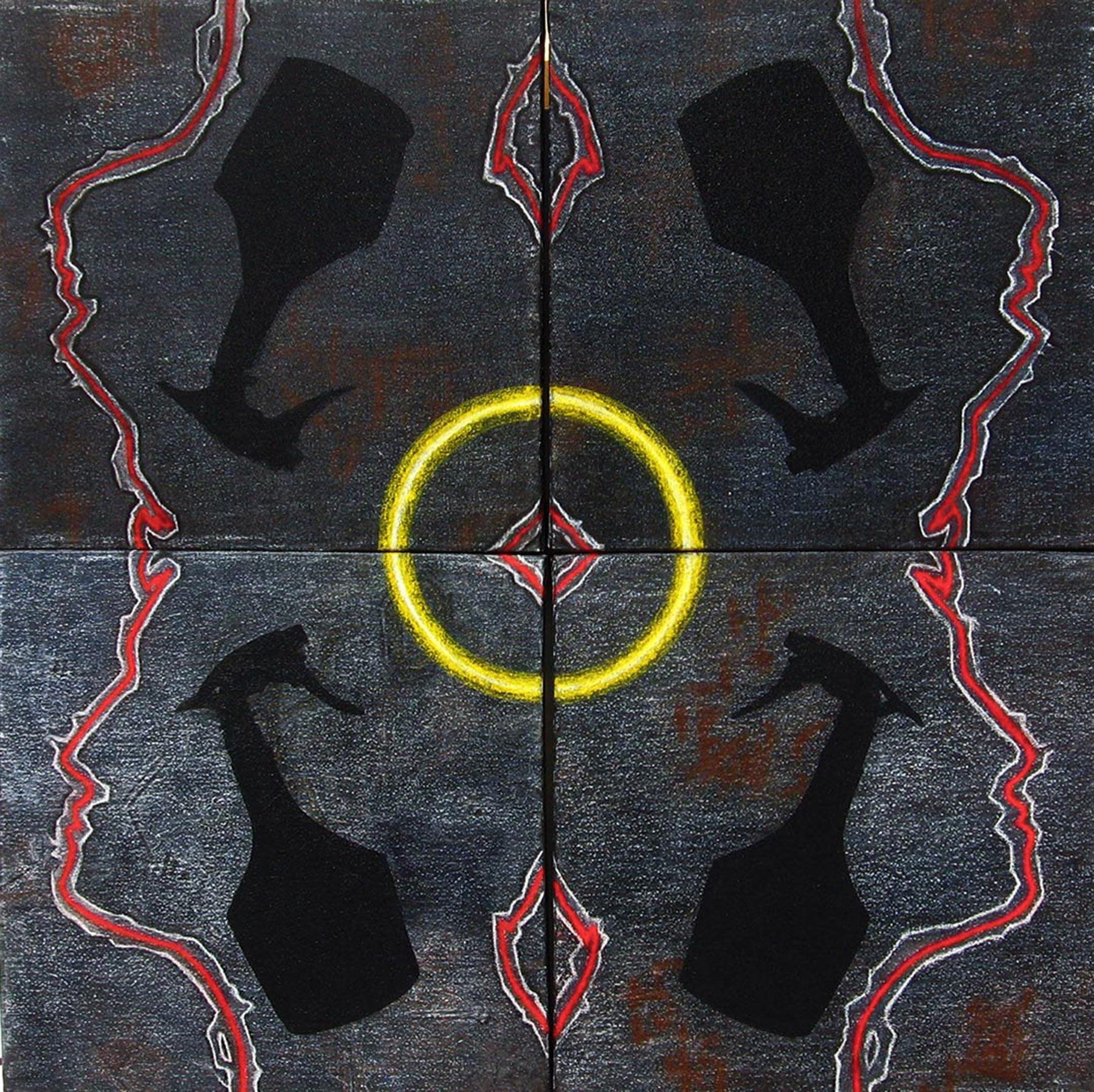 """Making the Circle-1, Pastel, Earth & Water color, Black, Yellow, Red """"In Stock"""""""