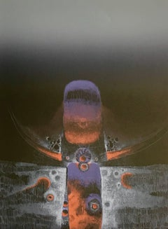 Spirit Totem, India - Signed Original Lithograph, Night Glow Colors
