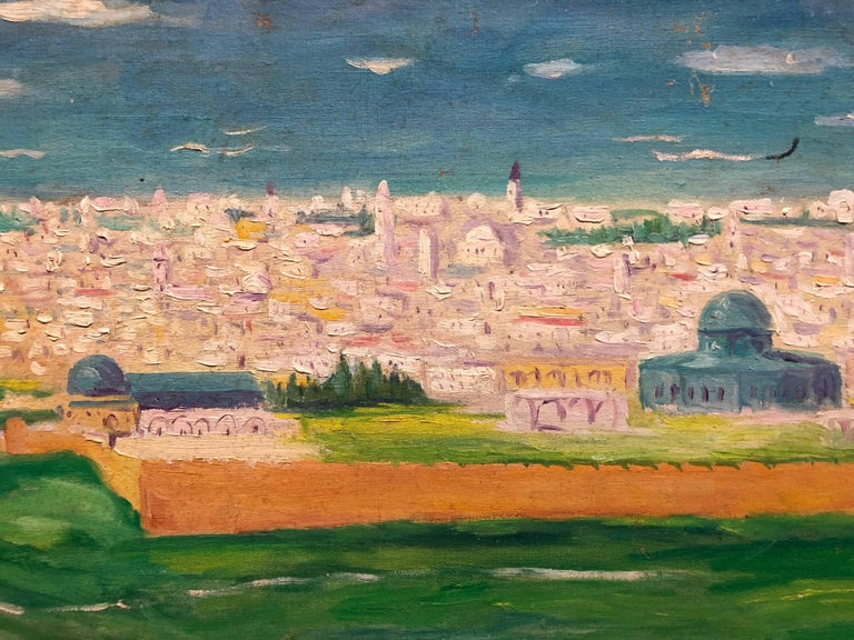 German-Israeli artist ARYE LEO PEYSACK (1894-1972). Peysack was born in 1894 and trained in Germany. He immigrated to Palestine in the early 1920s, traveled extensively around the country and captured the landscapes of the Holy Land and its people.