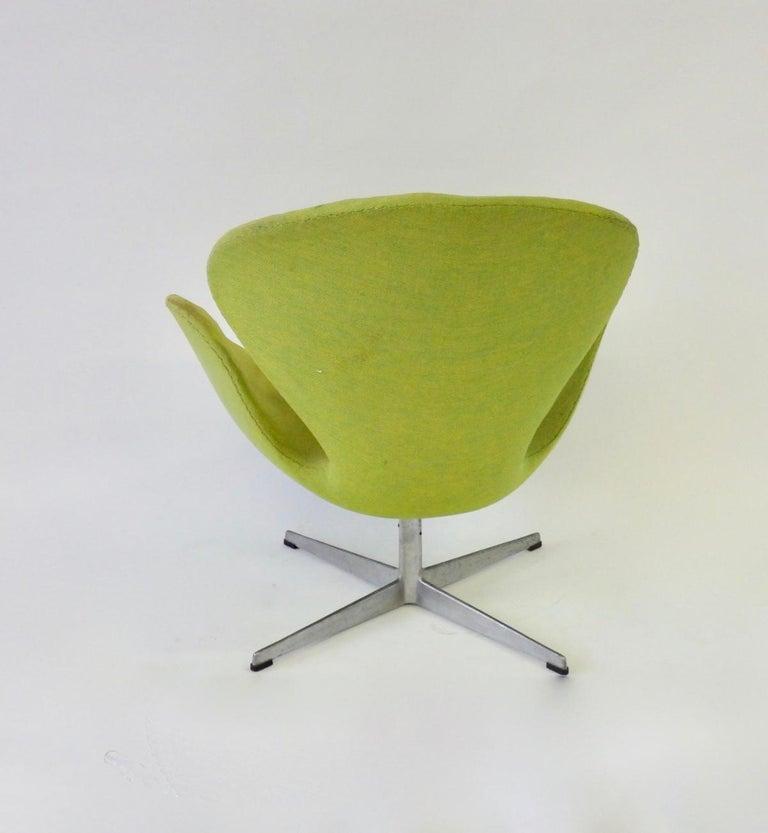 Danish As Found Arne Jacobsen for Fritz Hansen Adjustable Height Swan Chair For Sale