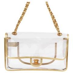 As New Chanel Transparent PVC Classic Flap Bag