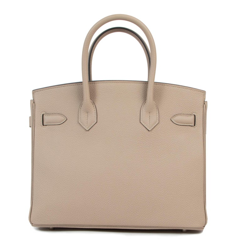 As New Hermes Birkin 30 Gris Tourterelle Togo PHW In New Condition For Sale In Antwerp, BE