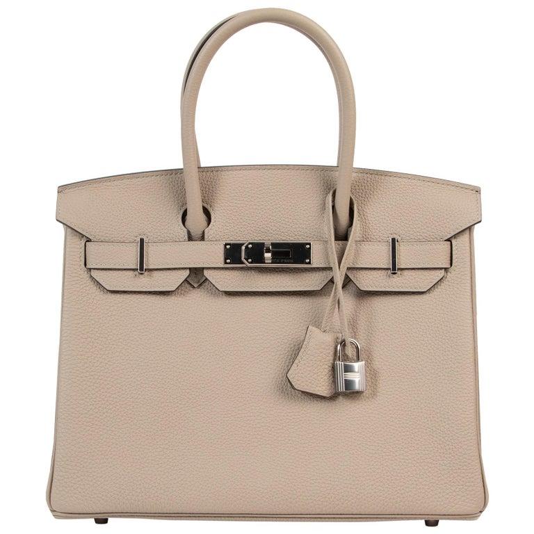 As New Hermes Birkin 30 Gris Tourterelle Togo PHW For Sale