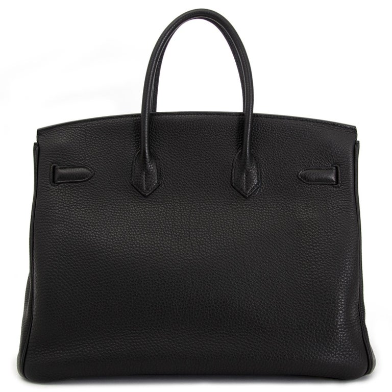 As New Hermes Birkin 35 Black Togo GHW In Excellent Condition In Antwerp, BE