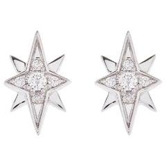 AS29 18 Karat White Gold North Star Diamond Earrings