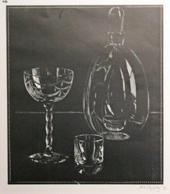 UNTITLED - DECANTER AND TWO GLASSES