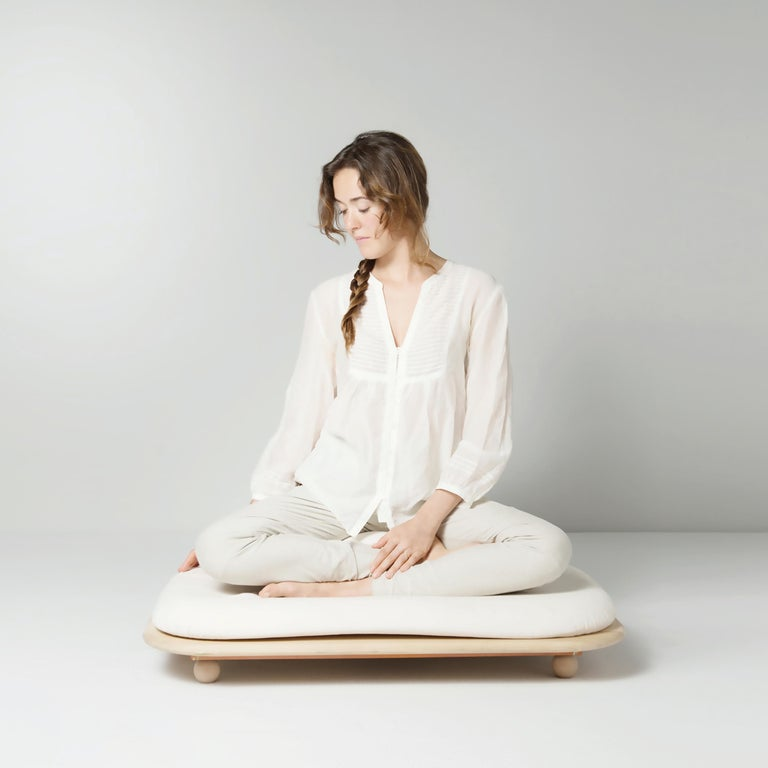 "The ASANA is a floor seat with an aim to take us closer to the earth and facilitate physical and mental balance. In the sanskritic yoga tradition asana means ""the posture that brings comfort and steadiness"".