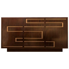Ascens Contemporary Chest in Brazilian Walnut and Brass