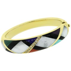 Asch Grossbardt Diamond and Enamel Bangle