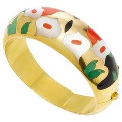 Asch Grossbardt Gold Onyx Coral Bracelet