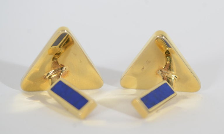 Women's or Men's Asch Grossbardt Inlaid Stone Cufflinks For Sale