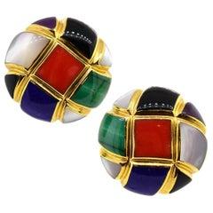 Asch Grossbardt Multi-Stone 14 Karat Gold Earrings