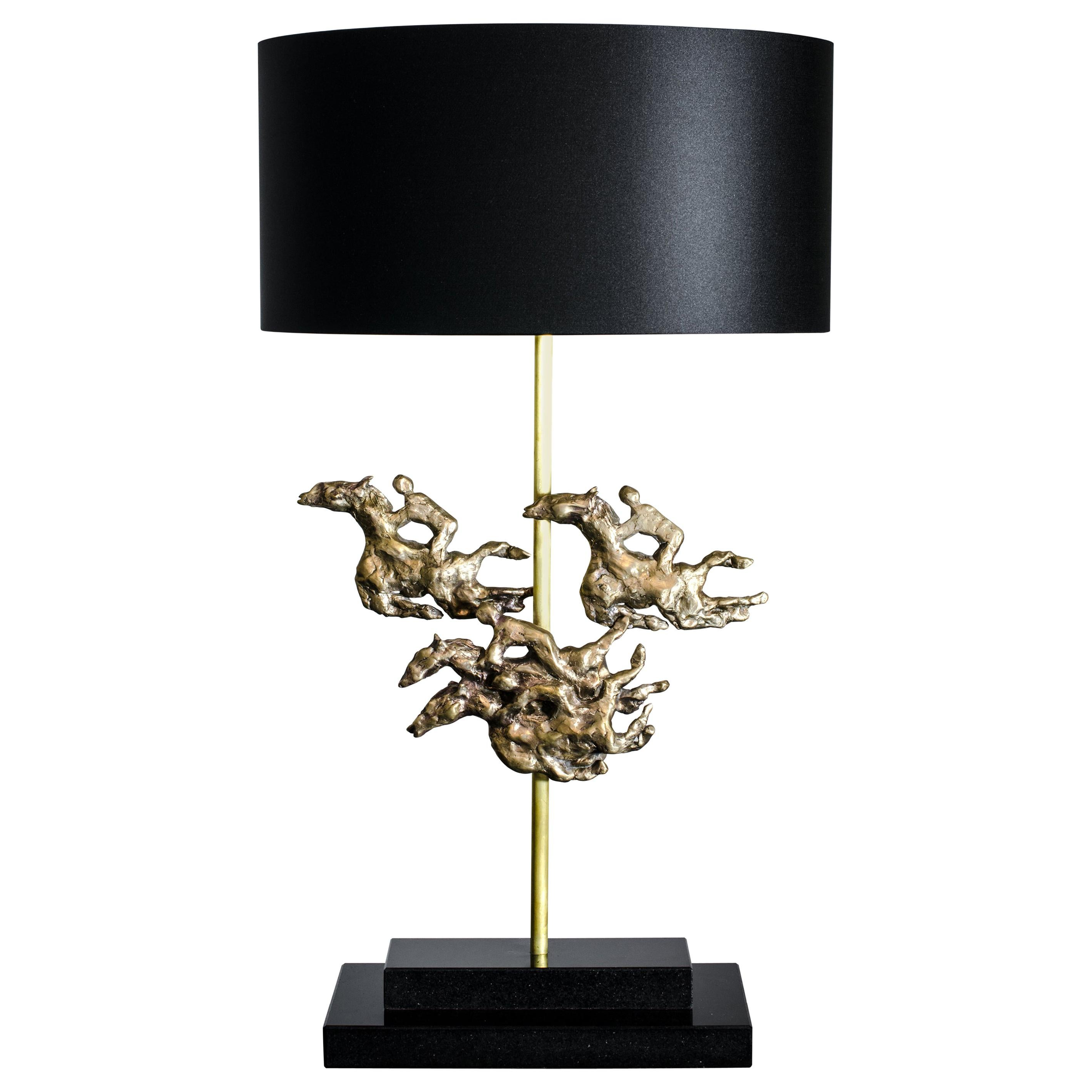 'Ascot' - One of a kind bronze table lamp