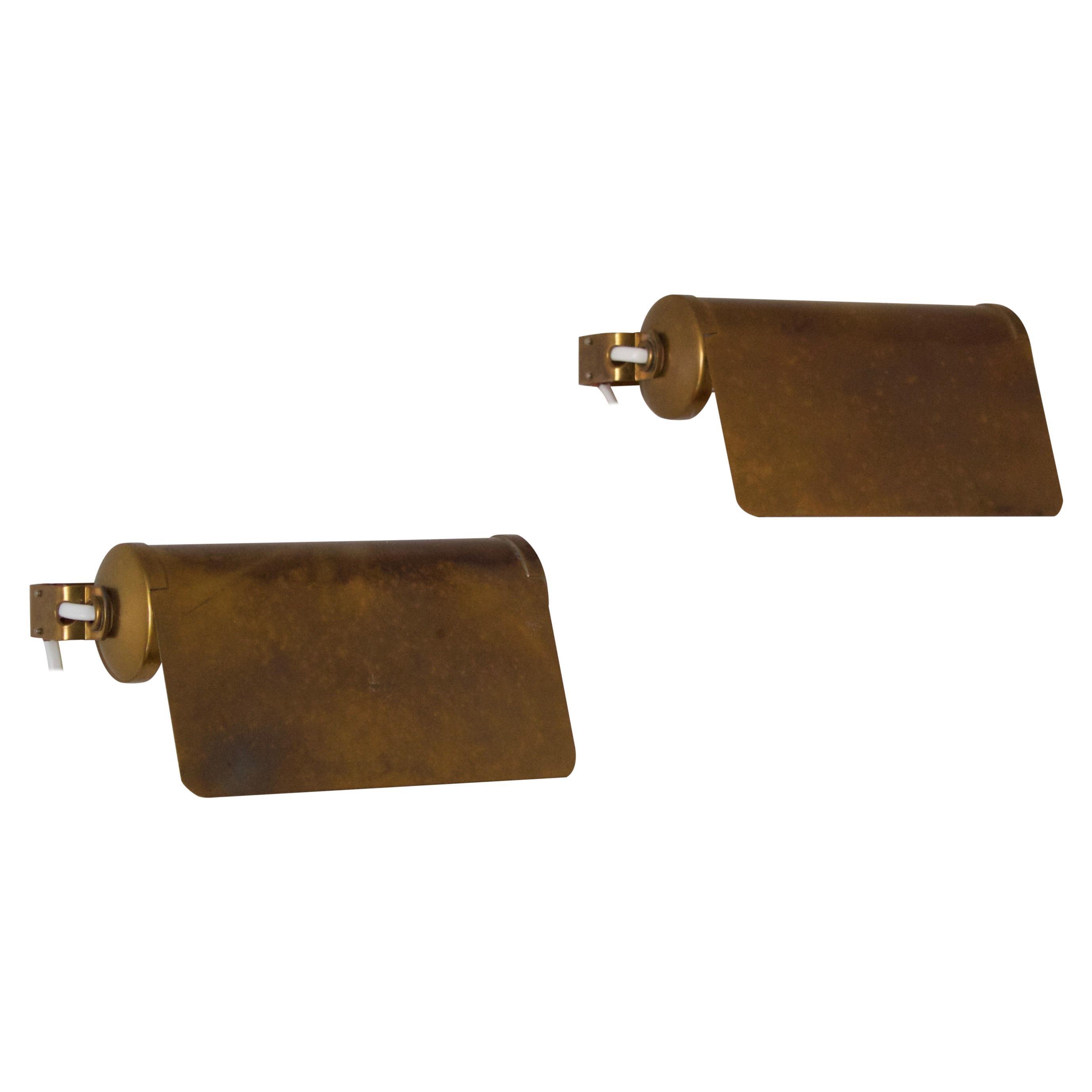 ASEA, Adjustable Wall Light, Brass, Sweden, 1940s