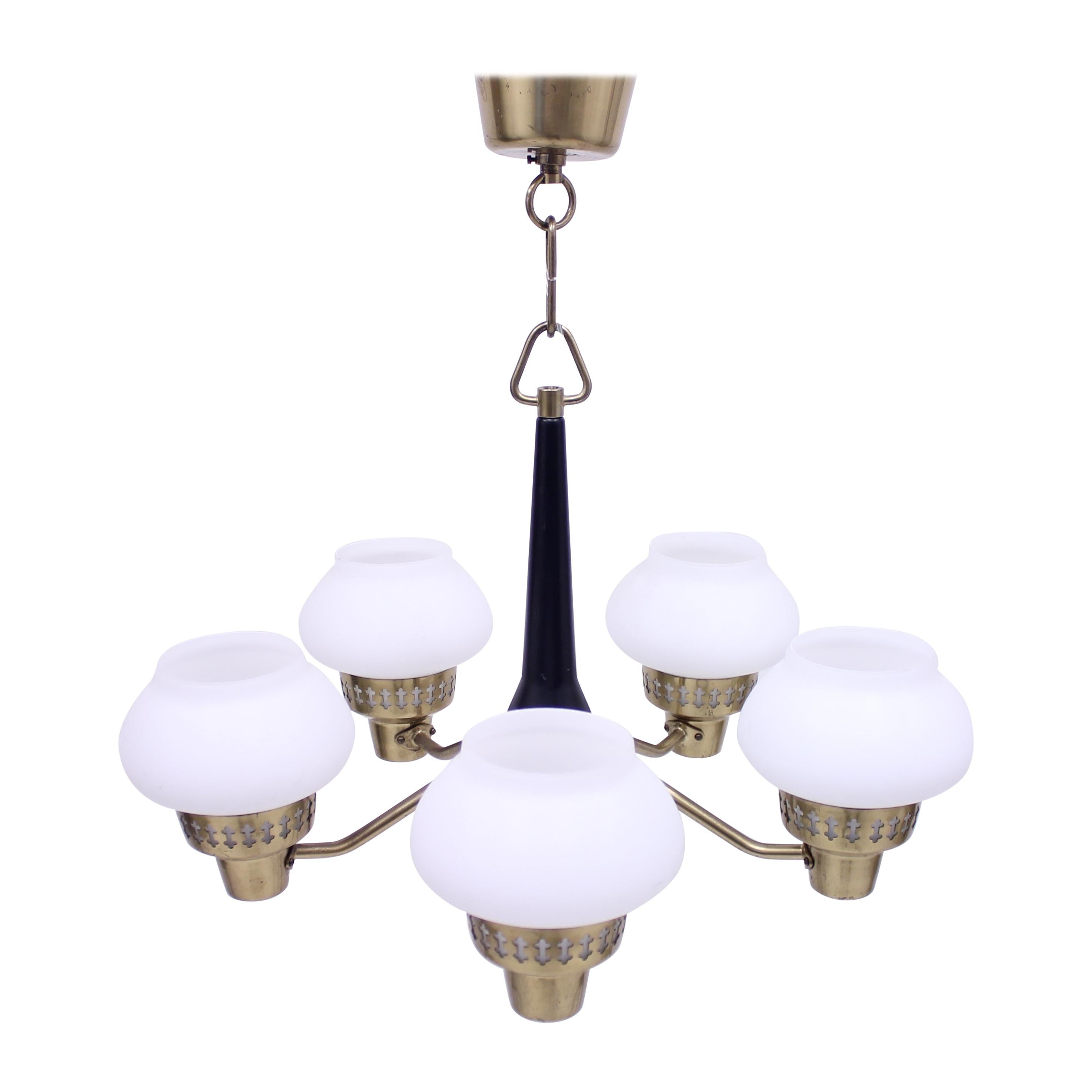 ASEA Five-Light Ceiling Lamp, 1950s