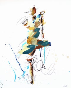 Blue Brown and Teal Figure