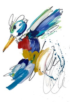 Golden Teal Splatter Hummingbird