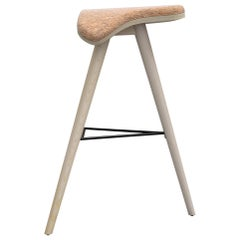 Ash and Fabric Horse High Stool by Alexandre Caldas