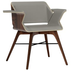 Ash and Walnut Contemporary Chair by Alexandre Caldas