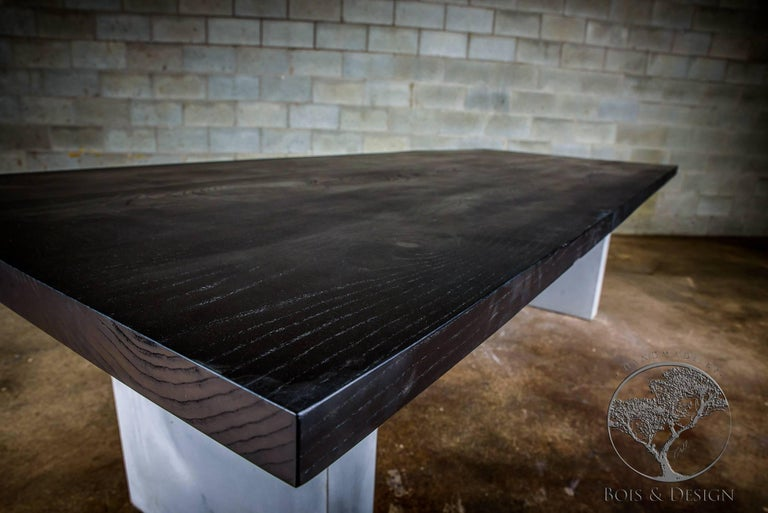 Ash Dining Table Stained Black On Concrete Legs For At 1stdibs - How To Stain A Table Black