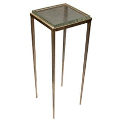 Ash Side Table in Bronze and Glass by Gregory Nangle