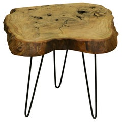 Ash Tree Live Edge Coffee Table with Hairpin Legs / LECT145