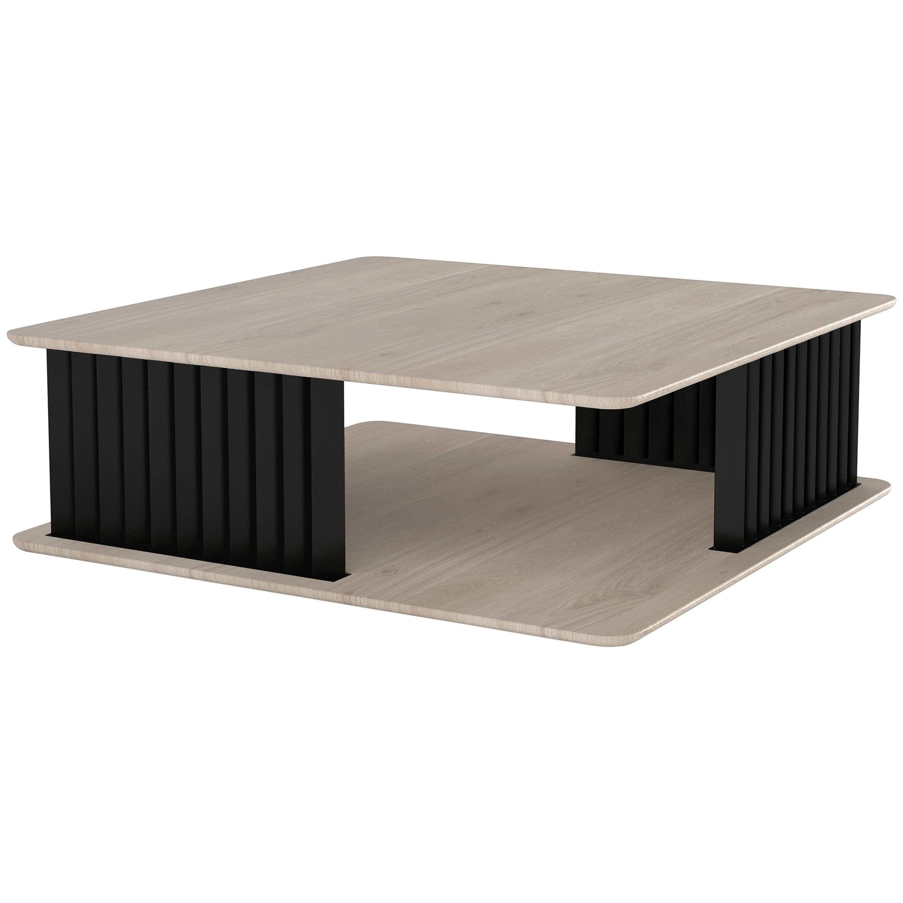 Ash Wood Coffee Table, Silvery Plateau by NONO