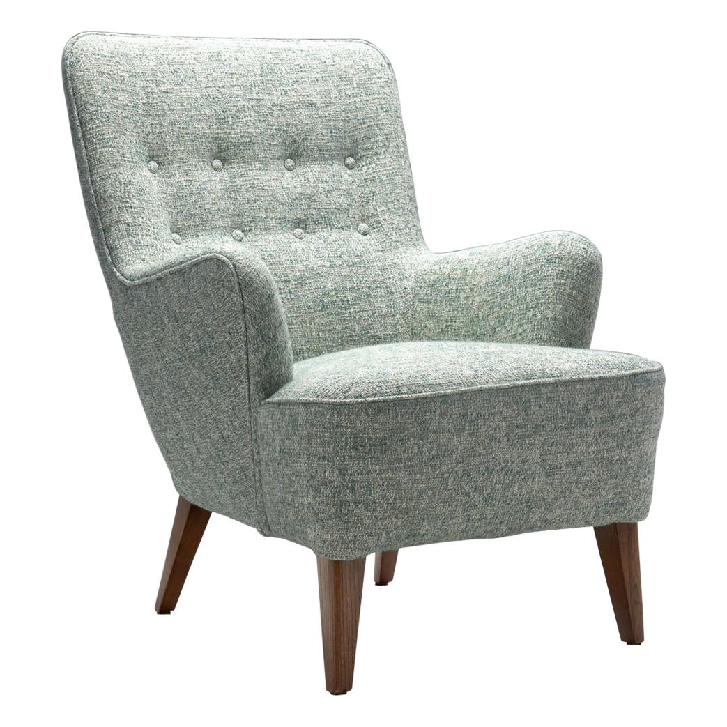 Ash Wood Danish Cabinetmaker Easy Chair, Denmark, ca 1950s