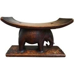 Ashanti African Tribal Elephant Stool