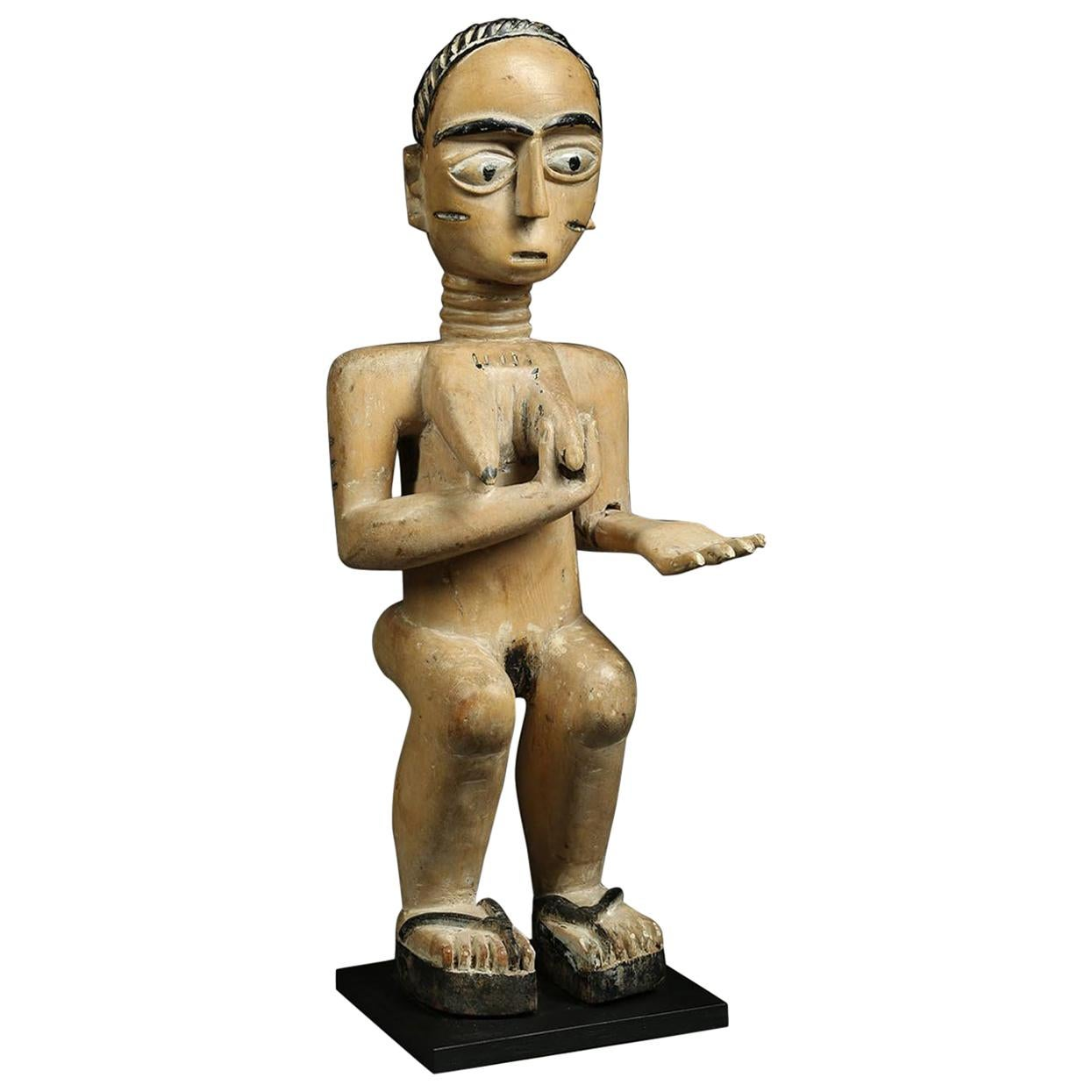 Ashanti Akan 'Ghana' Tribal Standing Female Figure with Arm Out, Africa