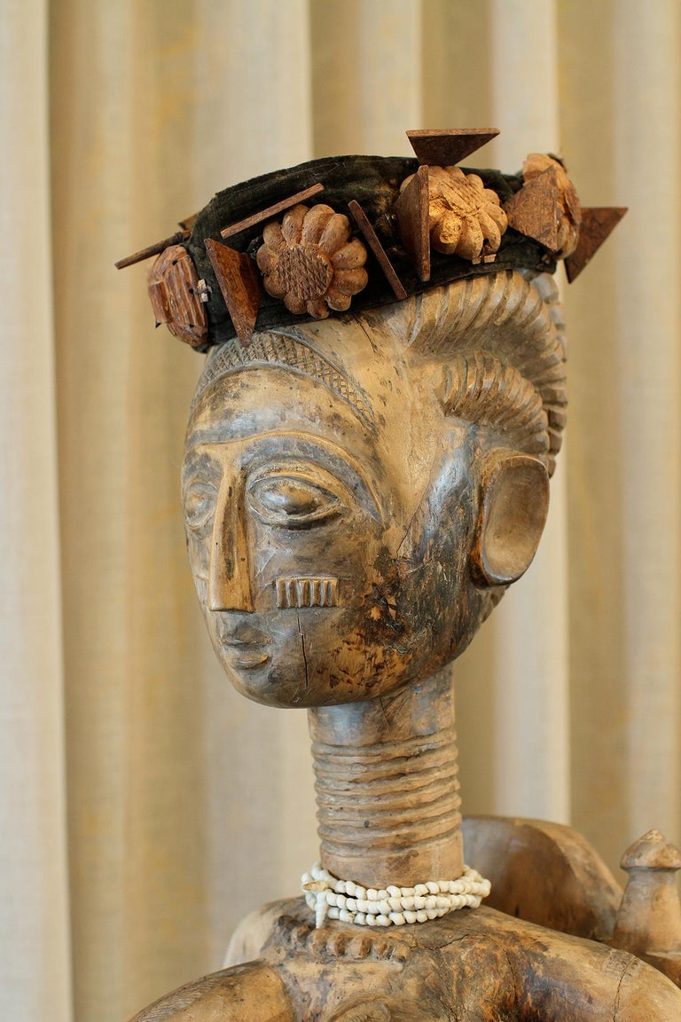 Wood Ashanti Ghana African Art Sculpture For Sale
