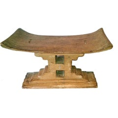 Ashanti Stool or Low Seat from Ghana, Early 20th Century