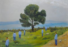 Mount Arbel, Painting, Oil on Canvas