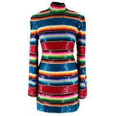 Ashish Multi-Colour Sequin Mini Dress - Worn on by Alesha Dixon - Size S