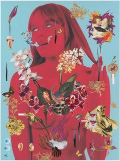 The denial of death 5-2, 2015, Ashkan Honarvar, Collage, Hand-Cut, Surrealism
