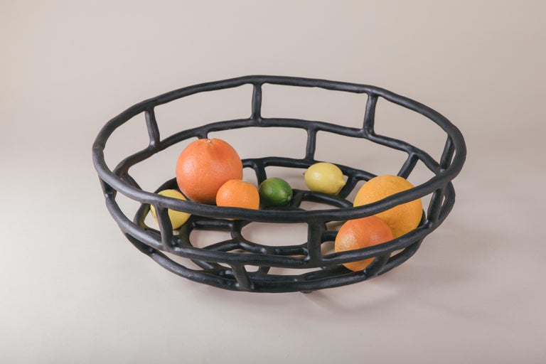 Ashlar Basket Extra Large, Large Ceramic Basket 3