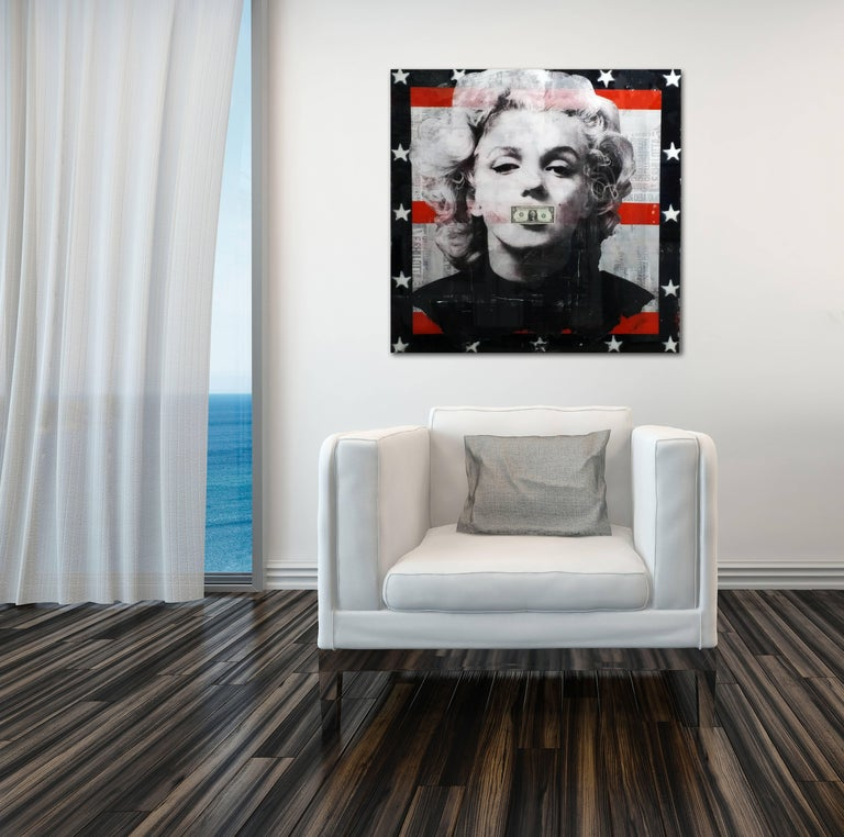 Believe in Yourself - Mixed Media and Resin Artwork featuring Marilyn Monroe - Painting by Ashleigh Sumner