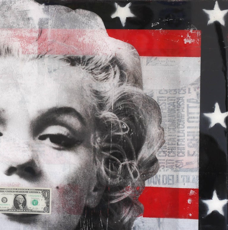 Believe in Yourself - Mixed Media and Resin Artwork featuring Marilyn Monroe - Pop Art Painting by Ashleigh Sumner