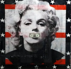Believe in Yourself - Mixed Media and Resin Artwork featuring Marilyn Monroe