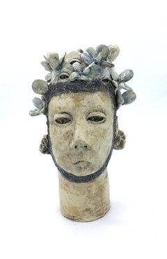 Ceramic figurative sculpture: 'Look to nature'
