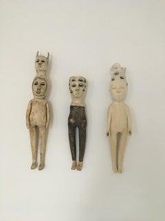 Ceramic wall hanging sculptures: 'Seek & friends'