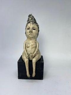 Figurative Ceramic Sculpture: 'I Just Can't Get Him Off My Mind'
