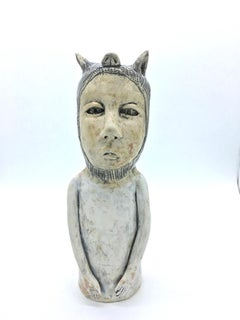 Figurative ceramic sculpture: 'I just want to be with my people'