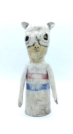Figurative ceramic sculpture: 'People are strange'