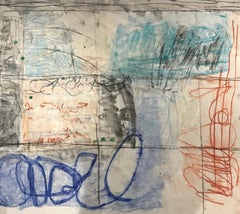 Handwriting India 2, 2019, Acrylic and Charcoal on Unstretched Canvas, Signed