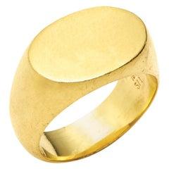 Ashley Oval Signet Ring in 18 Karat Gold