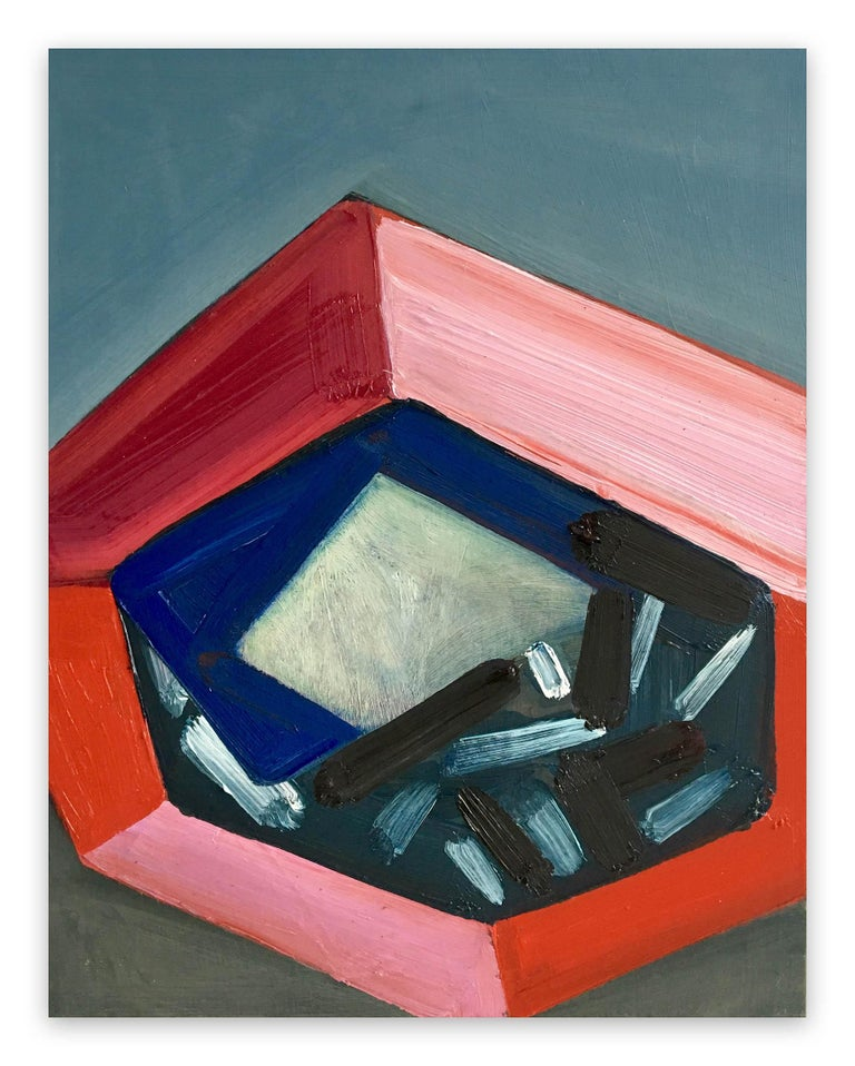 Ashlynn Browning Abstract Painting - Object by the Sea
